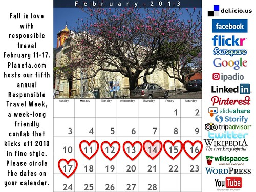 Mark Your Calendar: Responsible Travel Week 2013 #rtweek2013