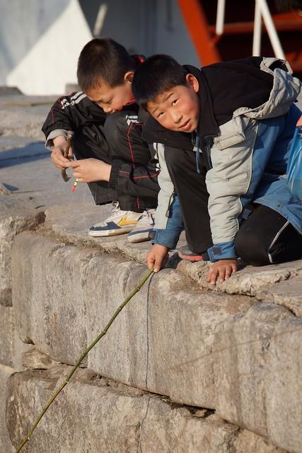 Boys Fishing Wonsan, North Korea