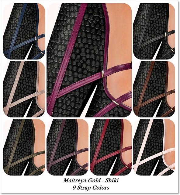 Maitreya Gold - Shiki Strap Colors