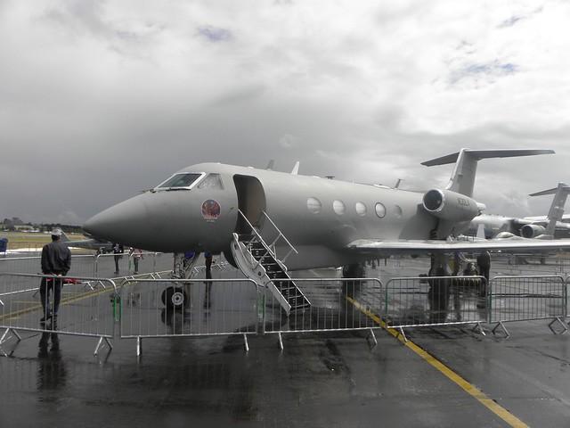 A jet at the 2010 Farnborough air show