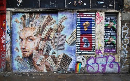Graffiti (Jimmy C), Shoreditch, London, England.