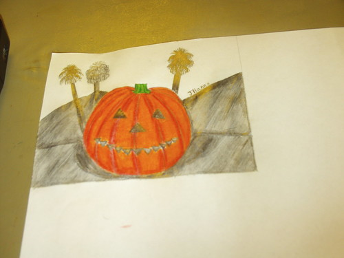 Drawing The Smiling Jack O Lantern: Part 4