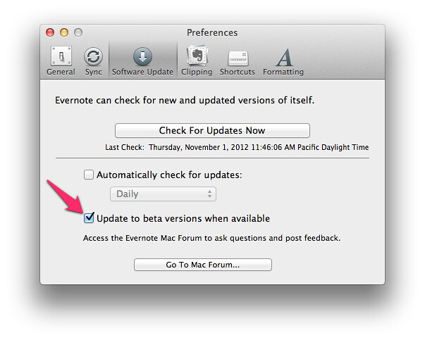 Beta de Evernote 5 para Mac disponible