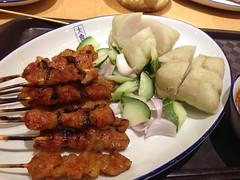 chicken and pork satay