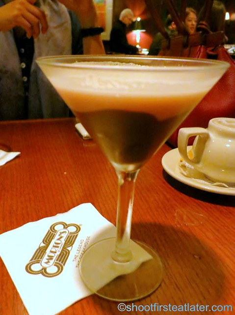 Happy Hour at Morton's HK- chocolate mortini HK$60