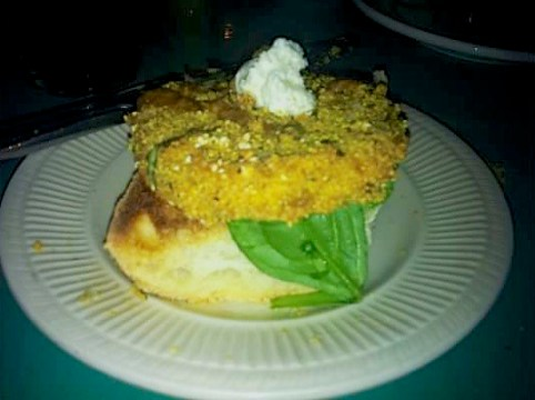 The Floridian Fried Green Tomato Bruschetta