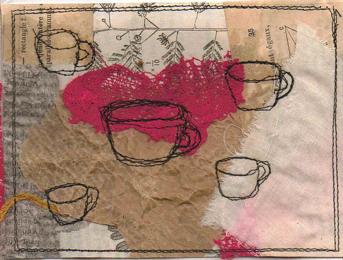 mini collage teacups