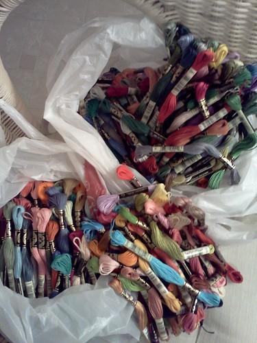 Bags of DMC Floss photo by Alice Creason