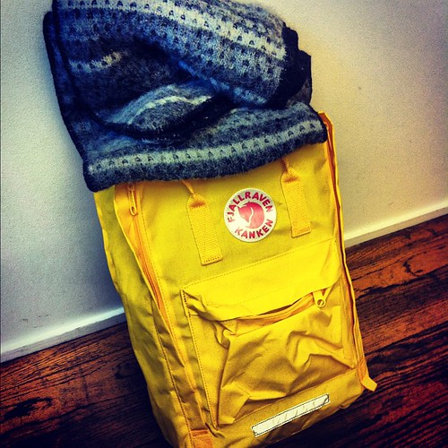 Must haves for #winter #geysirstore #fjallraven #backpack #scarf #yellow #gray