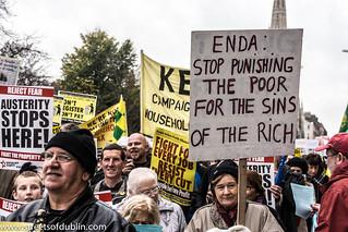 Anti-Austerity Protest In Dublin (Ireland) - 24 November 2012