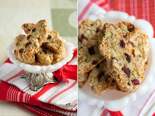 Cranberry-Pistachio Christmas Biscotti