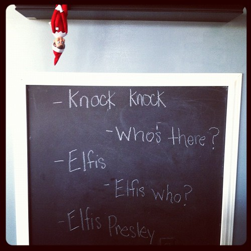 Oh Buddy. You're so funny. #elfontheshelf