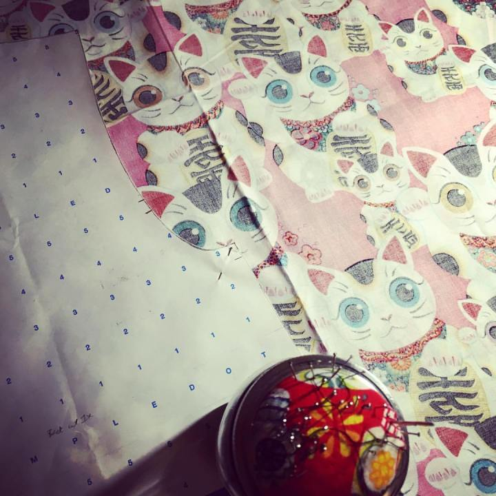 this is the wrong side so the fabric looks muted. #kawaii #かわいい #sewing #alexanderhenry