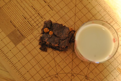 Black Bean Brownie and Almond Milk