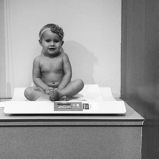 Weight check: 17 months, 23 lbs.