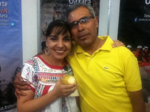 Gladis y Pedro, Encuentro Nacional de Ecoturismo Indígena @ Oaxaca 11.2012  @ecoturismoCDI