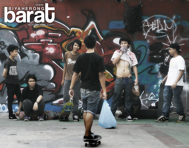 Skateboarding in Intramuros