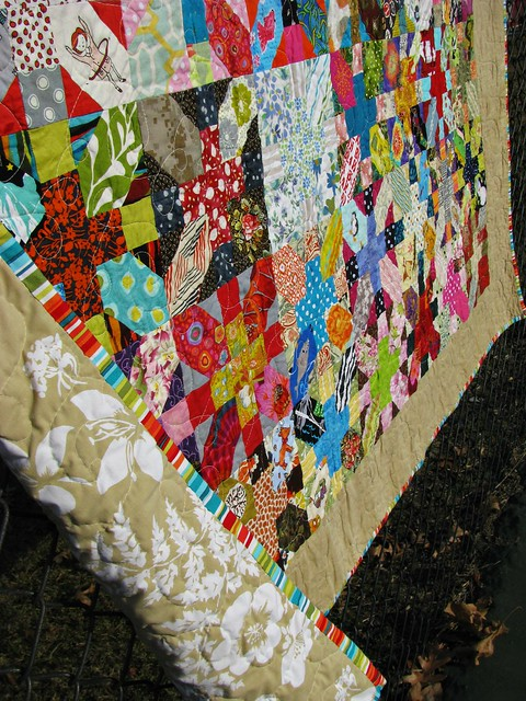 Tough Chickie Quilt Binding and Backing=