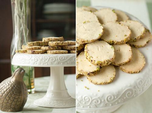 Saffron-Pistachio Icebox Cookies