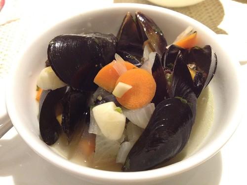 ムール貝のスープ@Cafe Entree
