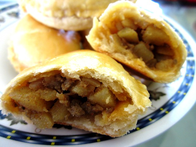 Curry puffs - inside