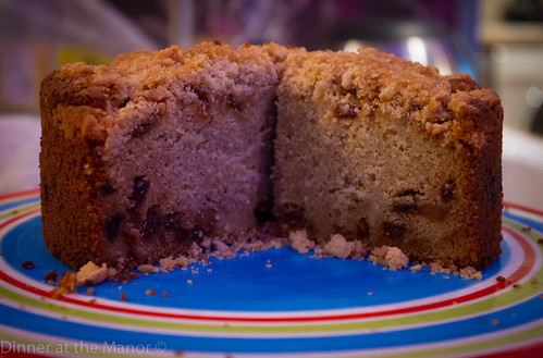 Dinner at the Manor Pear and mincemeat crumble cake 2