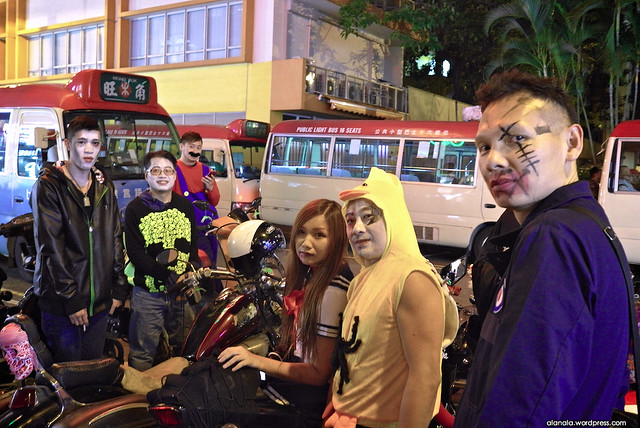 Bikers on the Halloween day.