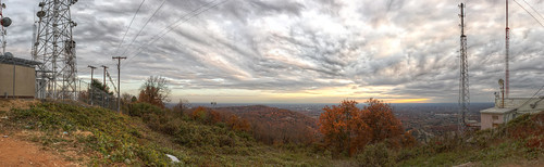 Panorama of Greenville, SC, taken from Paris Mountain
