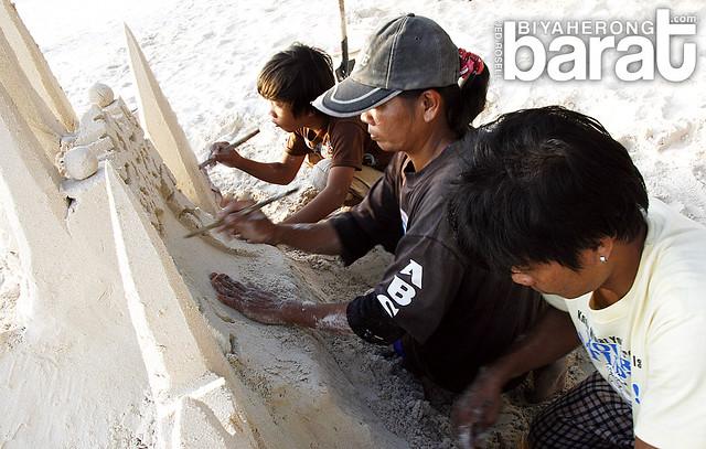sand castle making in Boracay