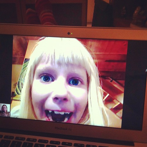 Skype happiness❤i miss her!