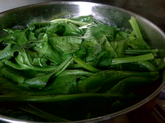 scald spinach