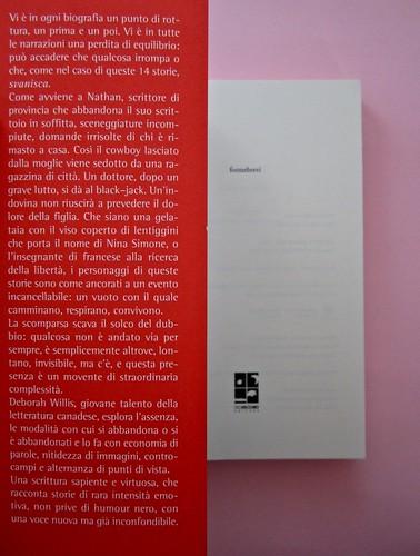 Deborah Willis, Svanire. Del Vecchio editore 2012. Grafica e impaginazione Dario Lucarini. Risvolto di copertina e frontespizio (part.), 1