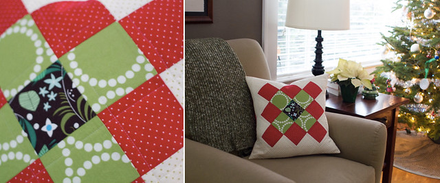 granny square christmas pillow