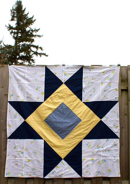 ohio star picnic quilt