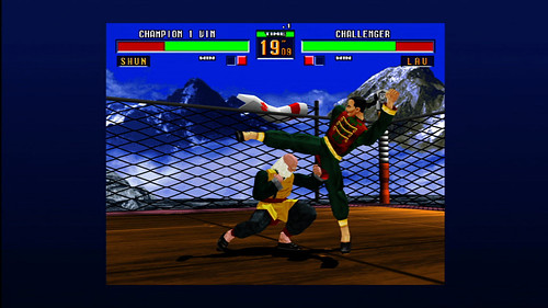 Virtua Fighter 2 is usually pretty fair, but Shun isn't above cheap shots.