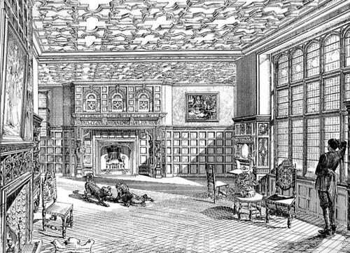 Denton Hall Lincs Drawing room REVIVALHERITAGE 1879 design