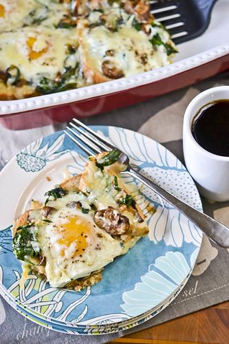 Mushroom-Spinach Baked Eggs 3