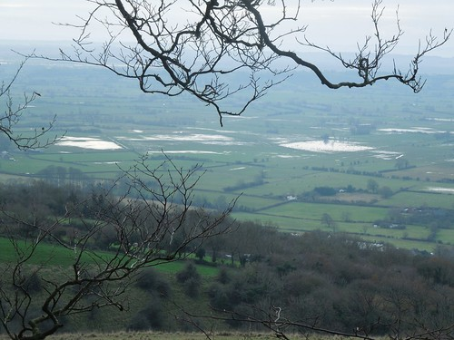 Flooding across the Somerset Levels.