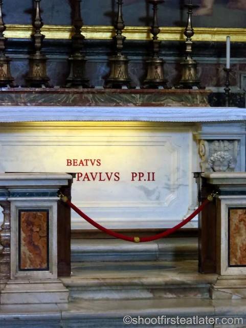 St. Peter's Basilica - Tomb of John Paul II in The Chapel of St. Sebastian