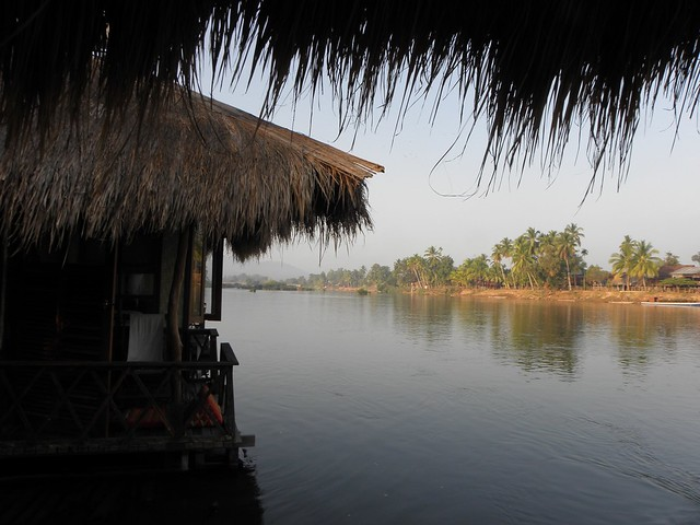 The view from our bungalow on Don Khone, Laos