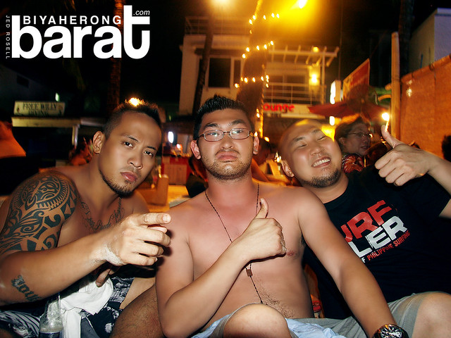 the boys on bamboo lounge in boracay