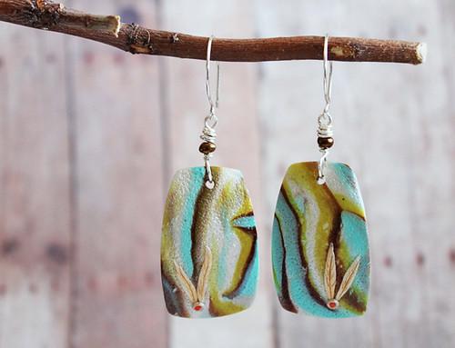 Gold leaves earrings 3