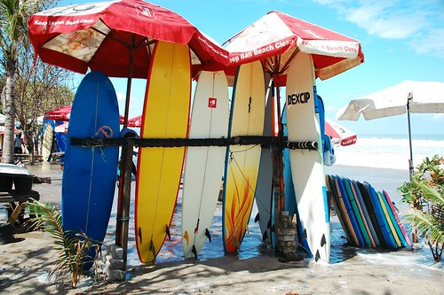 Bali surfboards Kuta beach