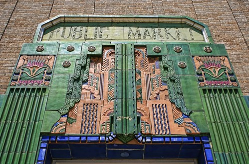 Art Deco entrance of the Warehouse Public Market in Tulsa, OK. Copyright Jen Baker/Liberty Images; all rights reserved.