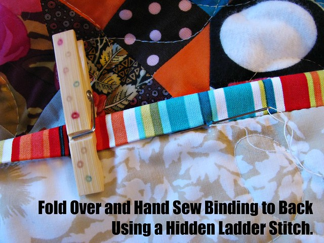 How to Bind a Quilt, Hand Sew to Back