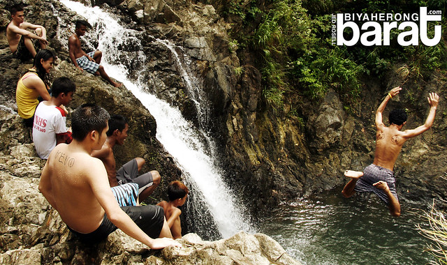 jumping in balagbag falls real quezon