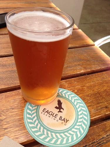 Saison beer at Eagle Bay Brewery