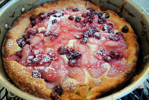 Pear & Cranberry Dutch Baby Pancake