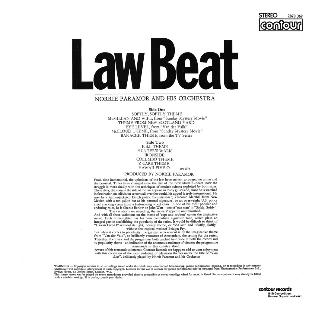 Norrie Paramor - Law Beat