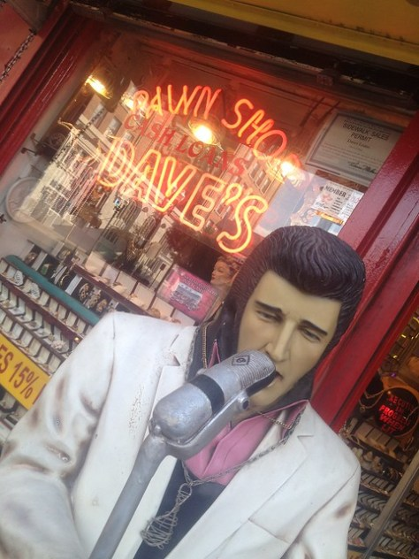 Elvis at Dave's Pawn Shop in El Paso